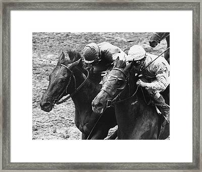 Montage Horse Racing Vintage Framed Print by Retro Images Archive