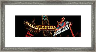 Montage Las Vegas Nv Framed Print by Panoramic Images