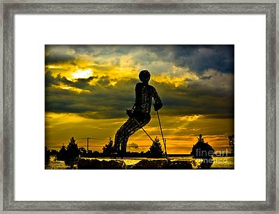 Montage Mountain Framed Print by Gary Keesler