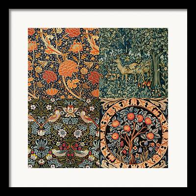 Tapestries - Textiles Digital Art Framed Prints