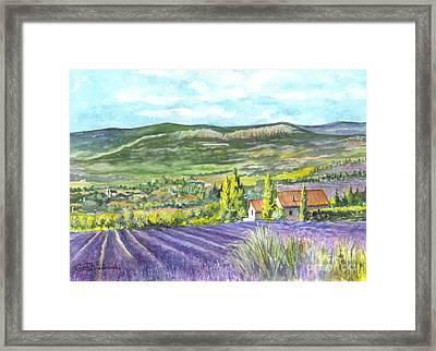 Montagne De Lure In Provence France Framed Print by Carol Wisniewski