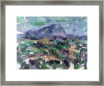 Montagne Sainte-victoire Framed Print by Paul Cezanne