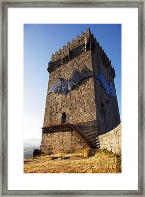 Montalegre Castle Framed Print by Carlos Caetano