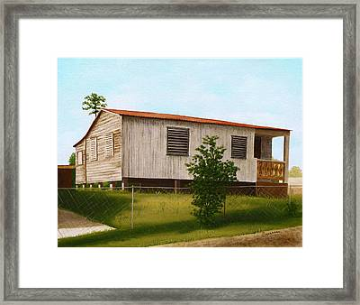 Montalvo Family House - Puerto Rico Framed Print by Robin Capecci