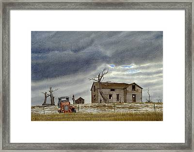 Montana Abandoned Homestead Framed Print