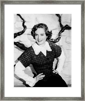Montana, Alexis Smith, 1950 Framed Print