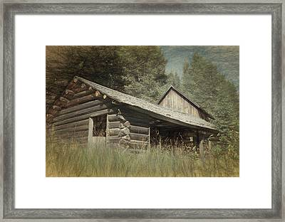Montana Cabin Framed Print by Richard Rizzo