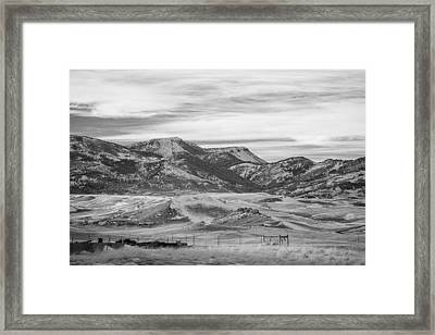 Montana Country Framed Print