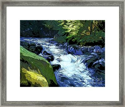 Montana Creek Framed Print by Dorinda K Skains