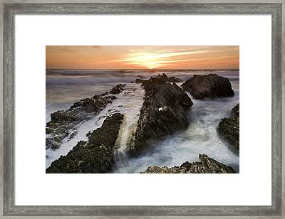 Montana De Oro Sunset 1 Framed Print