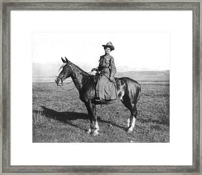 Montana Girl On Horseback Framed Print by Adams