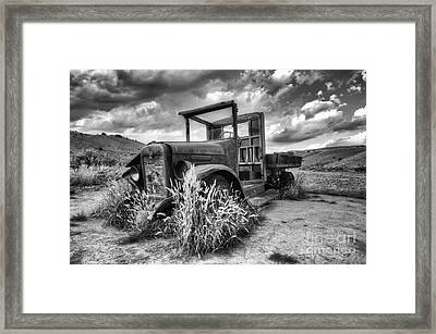Montana Hauler Framed Print by Bob Christopher