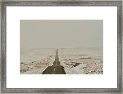 Montana Highway 3 Framed Print