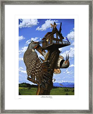 Montana Home Invasion Framed Print by Philip Slagter