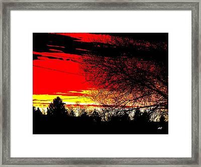 Montana January Sunset Framed Print by Aliceann Carlton