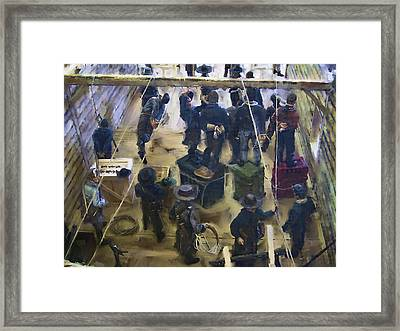 Montana Justice   January 14 1864 Framed Print by Daniel Hagerman