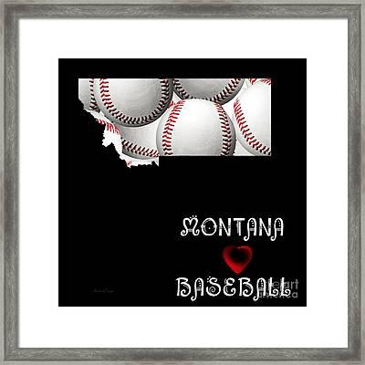 Montana Loves Baseball Framed Print