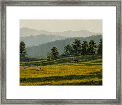 Montana Morning Framed Print by Crista Forest