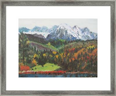 Montana Mountains In The Fall Framed Print
