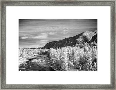 Montana Mountains Framed Print by Paul Bartoszek