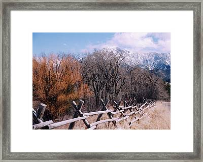 Montana Pardise Valley  Framed Print