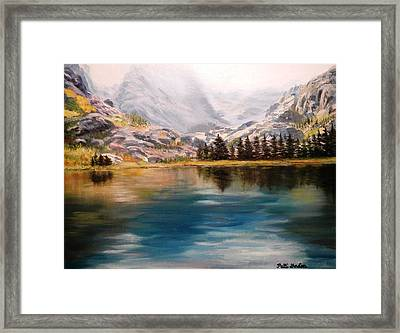 Montana Reflections Framed Print