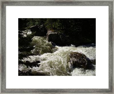 Montana River Rapids Framed Print by Yvette Pichette