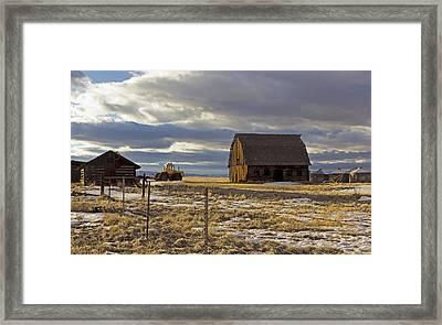 Montana Rural Scenery Framed Print by Dana Moyer