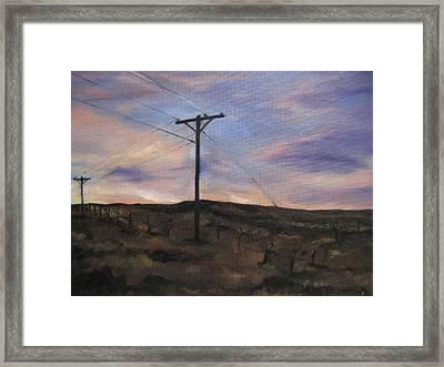 Montana Sky Framed Print