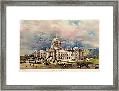 Montana State Capitol - 1896 Framed Print by Mountain Dreams