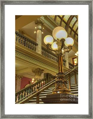 Montana State Capitol Framed Print by Juli Scalzi