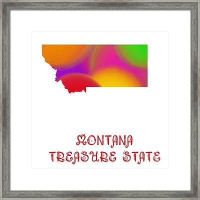Montana State Map Collection 2 Framed Print