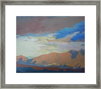 Framed Print featuring the painting Montana Storm by Francine Frank