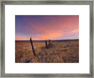 Montana Sunset Framed Print by Leland D Howard
