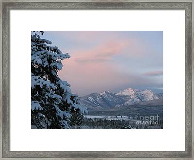Framed Print featuring the photograph Montana Winter by Joseph J Stevens