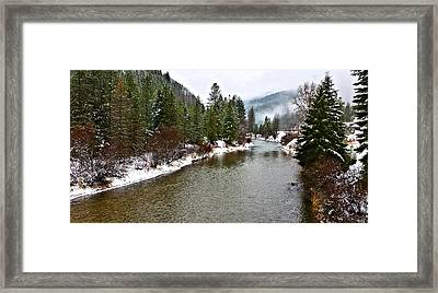 Montana Winter Framed Print