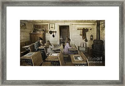Montana's Oldest Standing Schoolhouse Framed Print by Priscilla Burgers