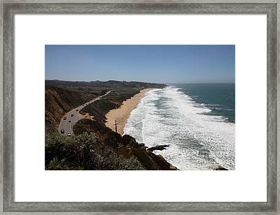 Montara State Beach Pacific Coast Highway California 5d22624 Framed Print by Wingsdomain Art and Photography