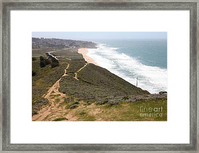 Montara State Beach Pacific Coast Highway California 5d22632 Framed Print by Wingsdomain Art and Photography