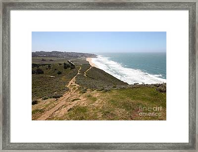 Montara State Beach Pacific Coast Highway California 5d22633 Framed Print by Wingsdomain Art and Photography