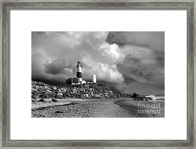 Montauk Black And White Framed Print