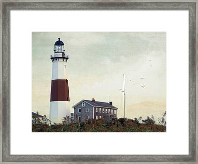 Framed Print featuring the photograph Montauk Dusk by Keith Armstrong