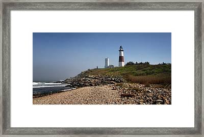 Montauk Lighthouse Framed Print by Alida Thorpe