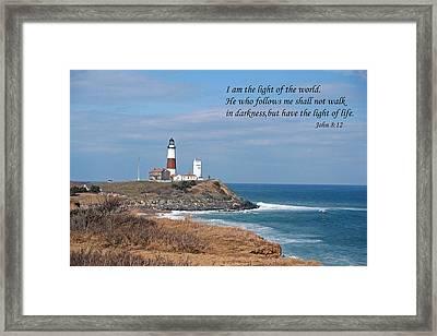 Montauk Lighthouse/camp Hero/inspirational Framed Print