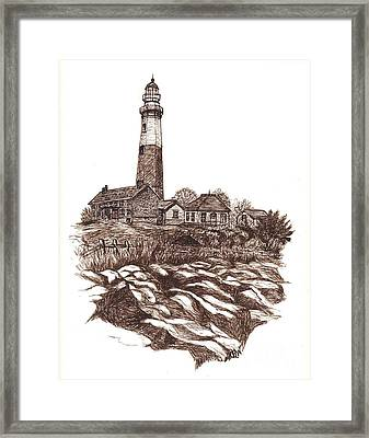 Montauk Lighthouse Long Island  N Y Framed Print by Carol Wisniewski