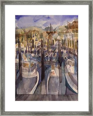 Montauk Marina Framed Print