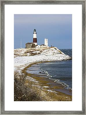 Montauk Snow Framed Print