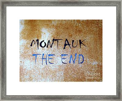 Montauk-the End Framed Print