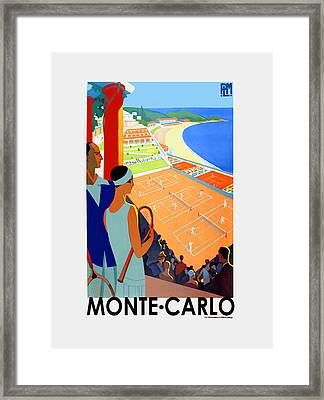 Monte Carlo 1930 Framed Print by Mark Rogan