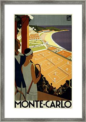 Monte Carlo 1930 Framed Print by Georgia Fowler